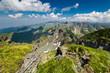 Landscape with Fagaras mountains in Romania