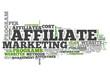 "Word Cloud ""Affiliate Marketing"""