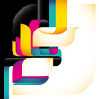 Artistic colorful background with modernistic abstraction.