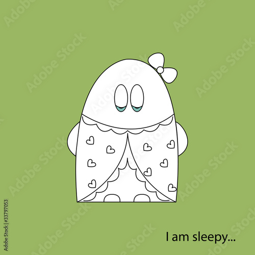 I am sleepy white