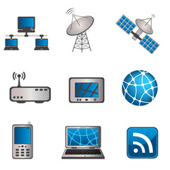 Communication and computer icon set