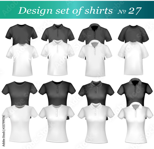 Shirts. Photo-realistic vector.
