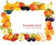 Fruit design background. Vector.