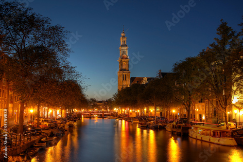 Prinsengracht Canal in Amsterdam, Netherlands