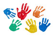 Leinwanddruck Bild - Hände