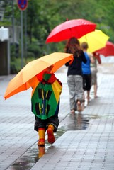 Children wirh umbrella
