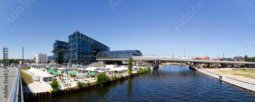 Leinwanddruck Bild Berliner Hauptbahnhof Panorama