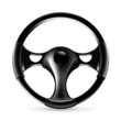 Steering wheel, icon
