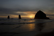 Sunset over Haystack Rock in Cannon Beach