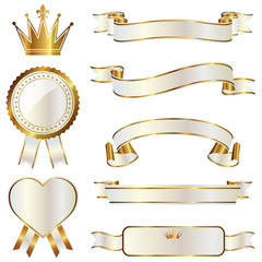 ribbon emblem set