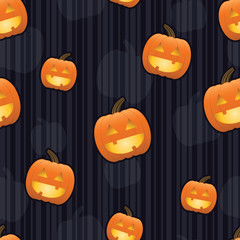 Jack-O-Lantern Seamless Tile.