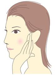 女性 横顔 スキンケア