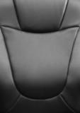 Black backrest  on the chair in office of supervisor. poster
