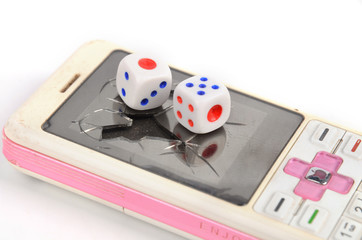 Dice and cellphone