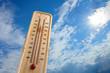 Leinwandbild Motiv thermometer in the sky, the heat
