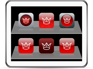 Crown red app icons.