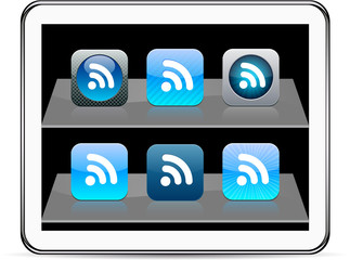 Rss blue app icons.