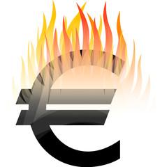 Euro-in-Flammen