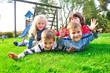 Leinwanddruck Bild - Kinder beim spielen