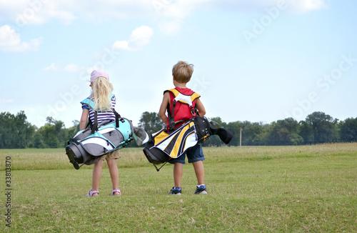 Plexiglas Golf Little Golfers