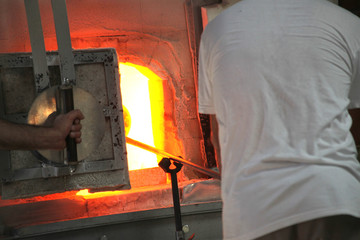 glass furnace hot oven