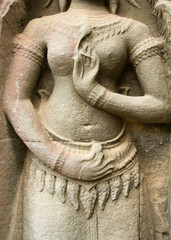 Stone Carving, Angkor Wat Temple, Cambodia