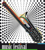 music festival. Vector illustration poster