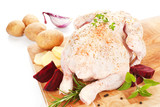 Poultry background. Delicious raw chicken. poster