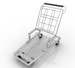 hand truck on white background. Isolated 3D render