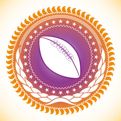 Modish illustrated american football emblem.