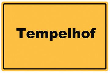 Schild Tempelhof