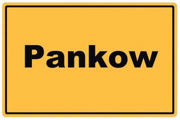 Schild Berlin Pankow