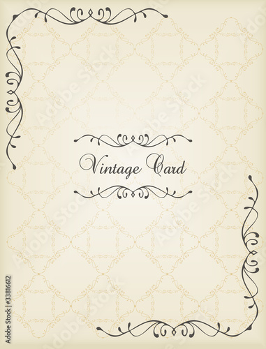 Vintage wedding frame vector background