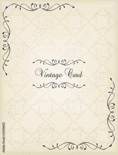 Vintage wedding frame vector background