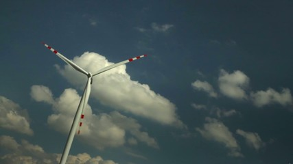 Wind turbine-blue sky