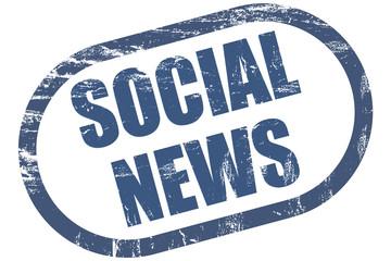 Grunge Stempel blau SOCIAL NEWS