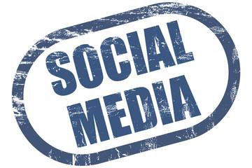 Grunge Stempel blau SOCIAL MEDIA