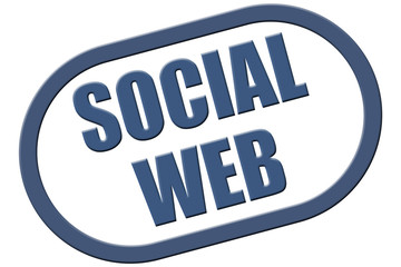 Stempel blau rel SOCIAL WEB