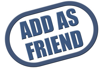 Stempel blau rel ADD AS FRIEND