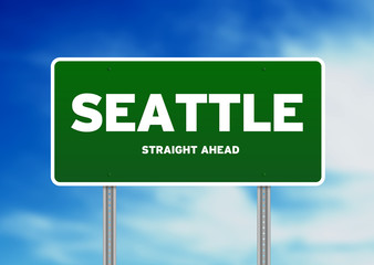 Seattle, Washington Highway Sign