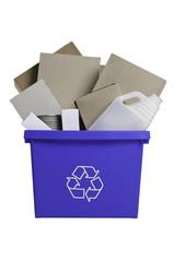 Full Recycling Bin