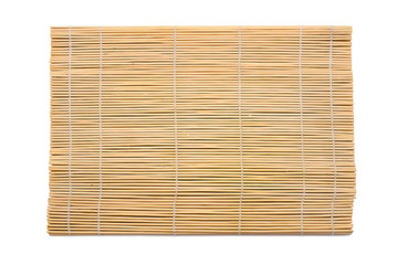 Wooden mat, isolated on white.