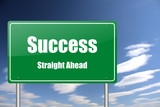 success traffic sign