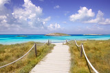 Fototapety beach way to Illetas paradise beach Formentera