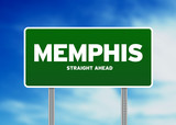 Memphis, Tennessee Highway Sign poster