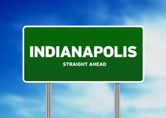 Indianapolis, Indiana Highway Sign