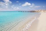 Fototapety Formentera beach wood pier turquoise balearic sea