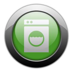 "Green Metallic Orb Button ""Laundromat"""