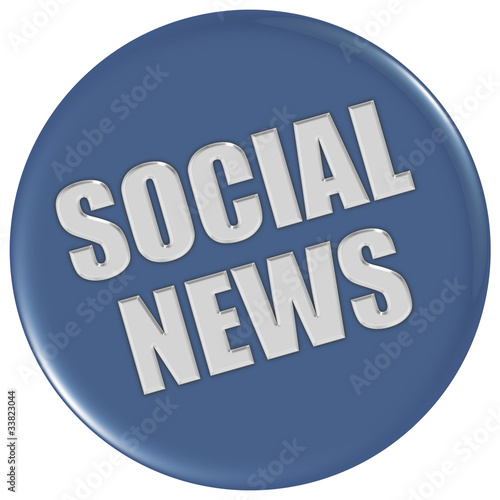 Button blau rund SOCIAL NEWS