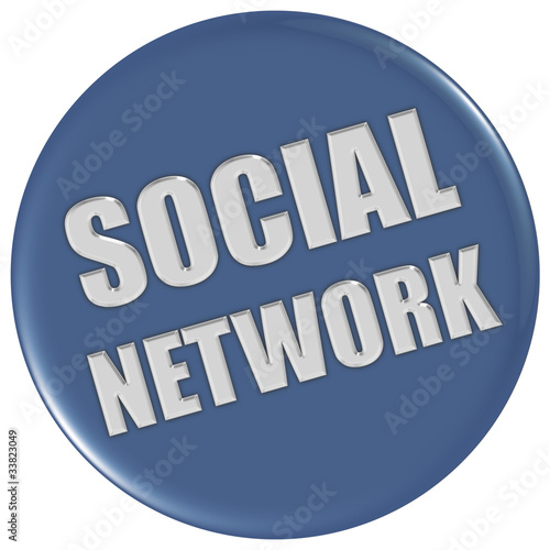Button blau rund SOCIAL NETWORK